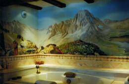 Décor peint salle de bains «les Gets / Haute Savoie»