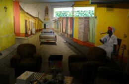 Décor sur trois mur, dans salle à cigare (2)